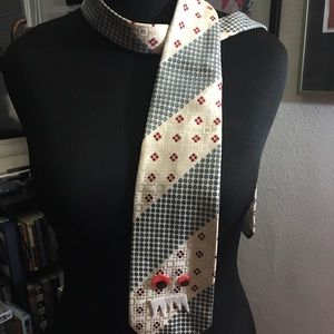 Italian silk tie with googly eyes 👀